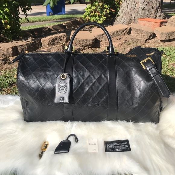 896064a8f42f CHANEL Bags | Boston Quilted Leather Travel Bag | Poshmark